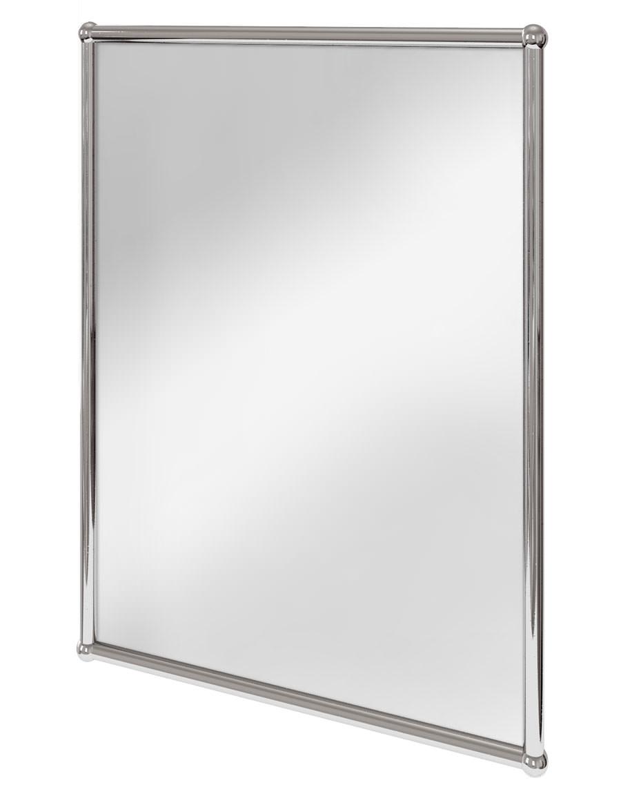 Burlington Rectangular Mirror With Chrome Frame - A11 CHR