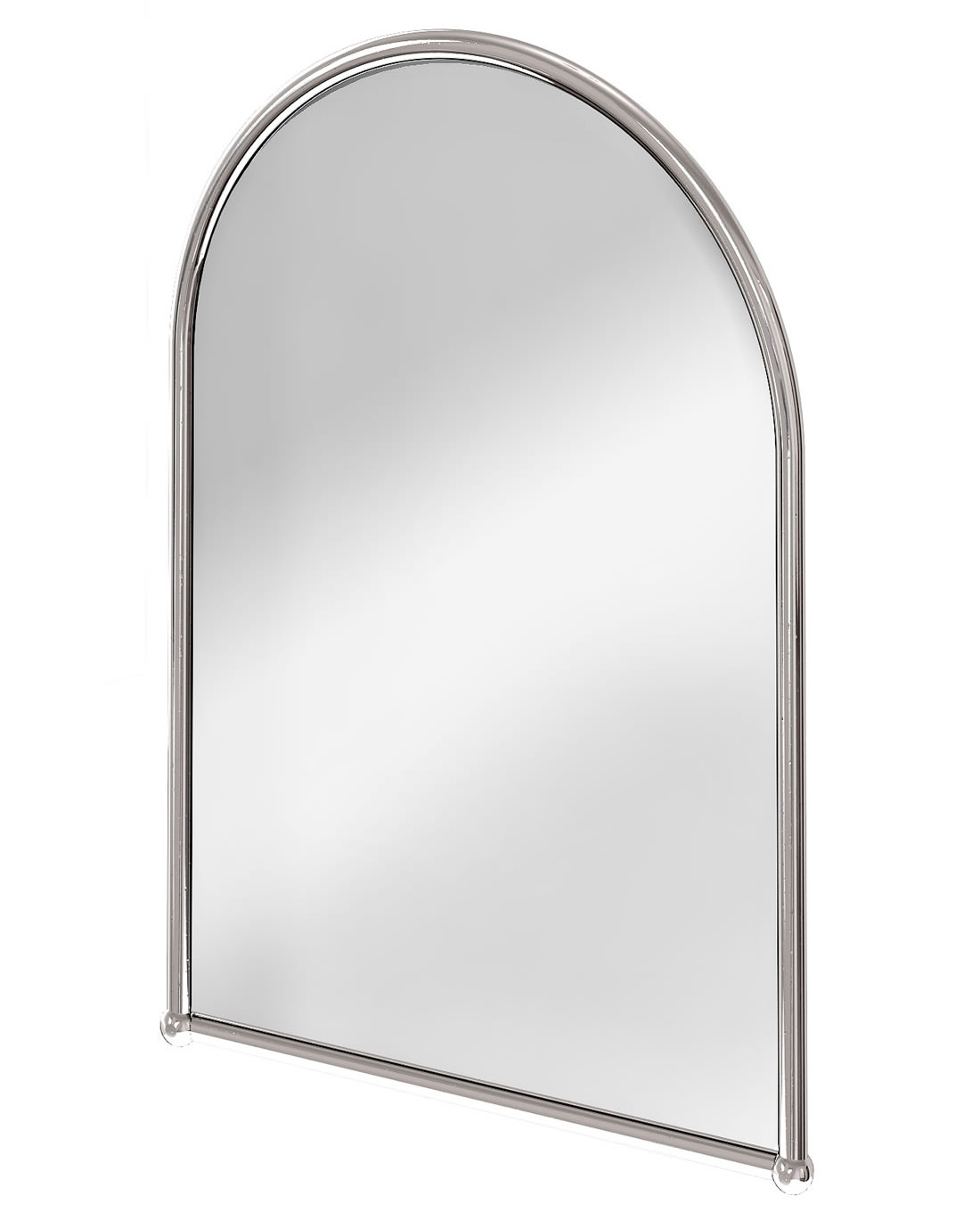 Bathroom Mirror Chrome arched mirror with chrome frame - a9 chr