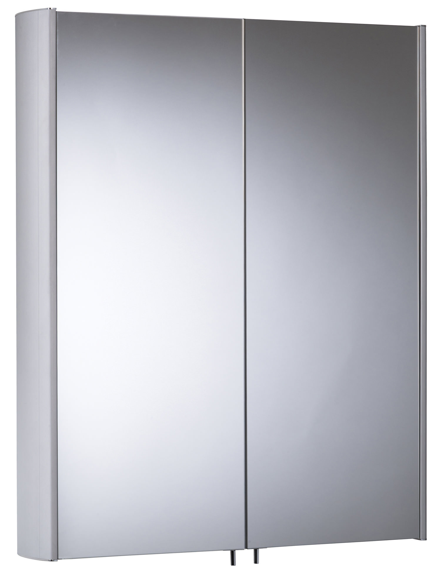 Tavistock Move 580mm Double Mirror Doors Aluminium Cabinet