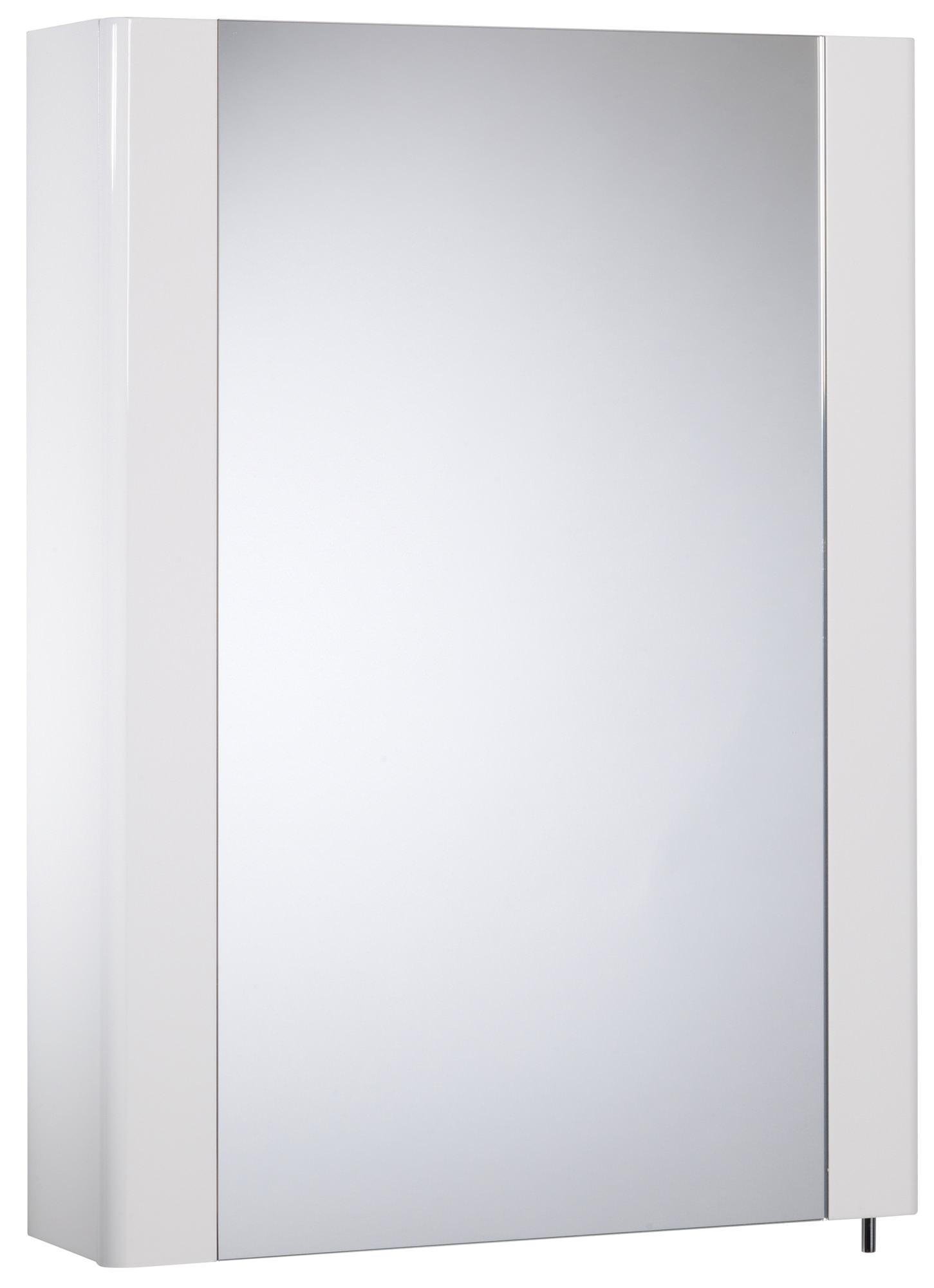 Tavistock Detail 475mm White Gloss Single Mirror Door Cabinet | DE47W