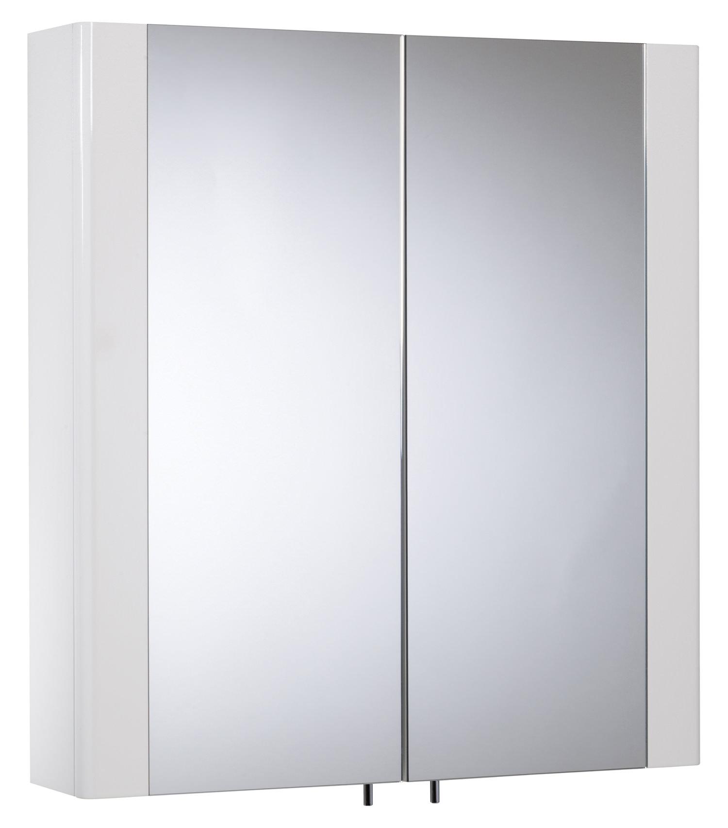 Tavistock Detail 600mm White Double Mirror Doors Cabinet