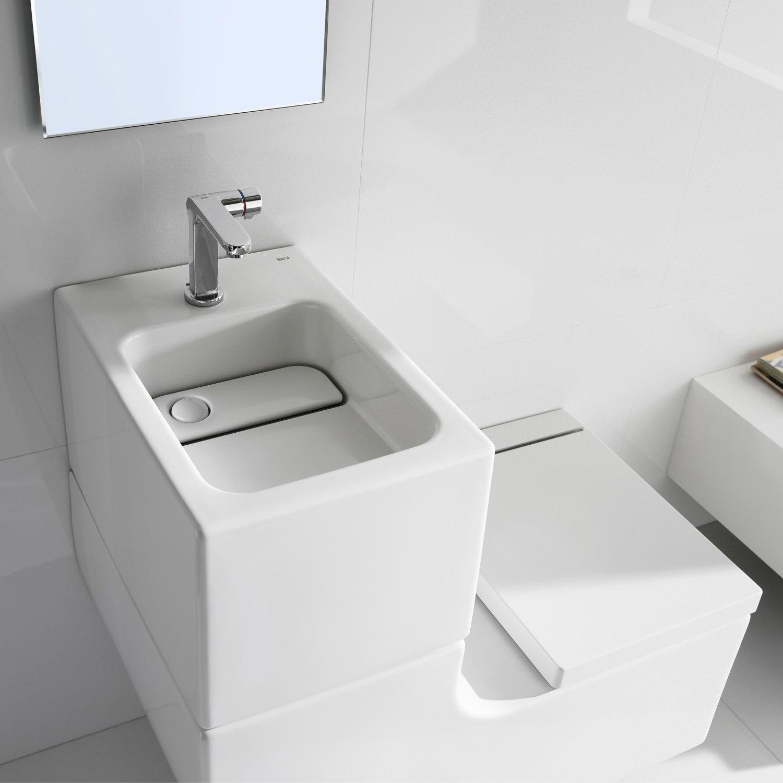 Roca W+W Wall-hung Vitreous China WC And Basin