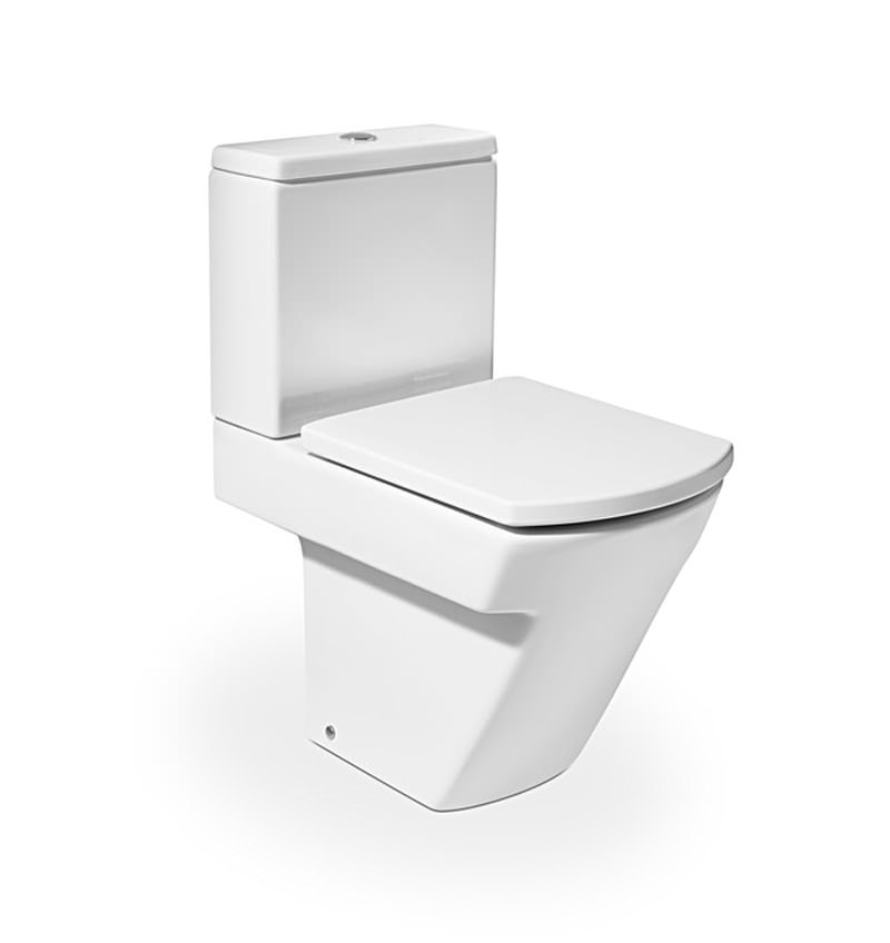 roca hall close coupled wc pan with cistern 595mm 342627000