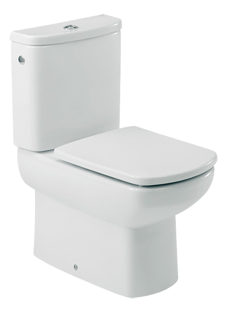 roca senso compact wc pan with cistern and toilet seat. Black Bedroom Furniture Sets. Home Design Ideas