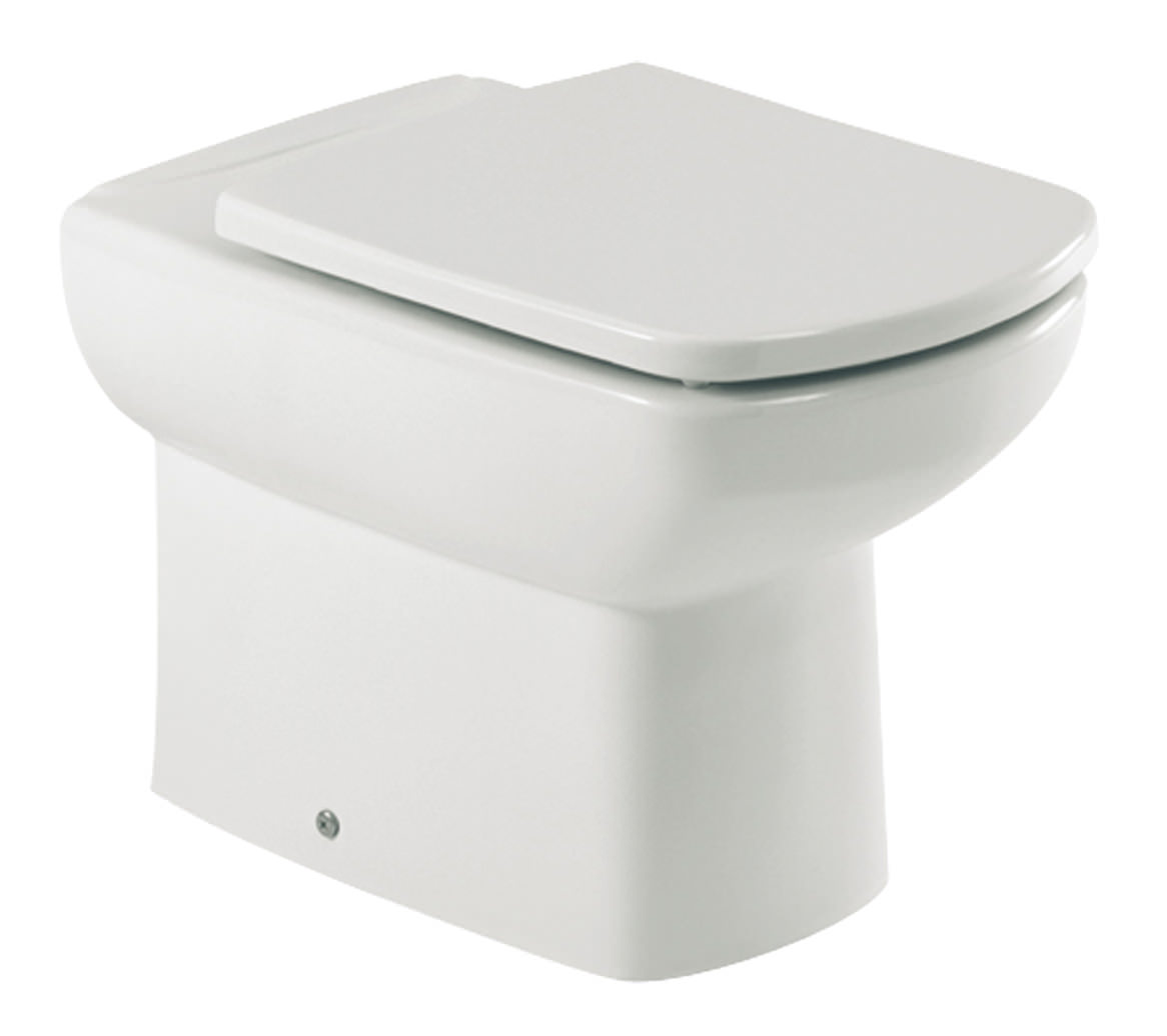 roca senso compact back to wall wc pan with toilet seat. Black Bedroom Furniture Sets. Home Design Ideas