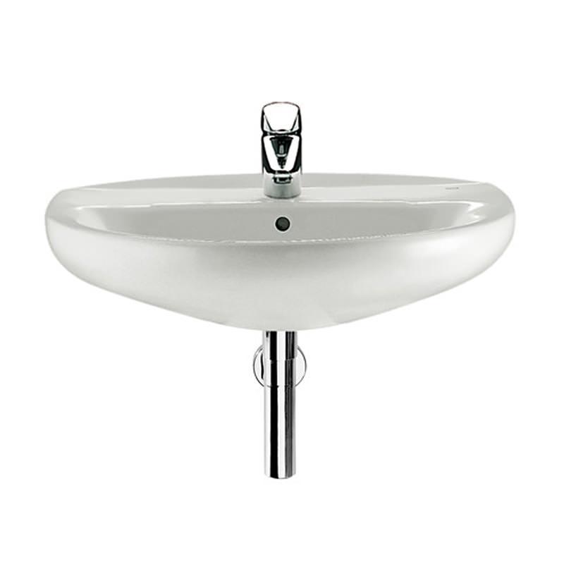 ... basins bathroom sinks roca laura 1 tap hole wall hung basin 600mm wide