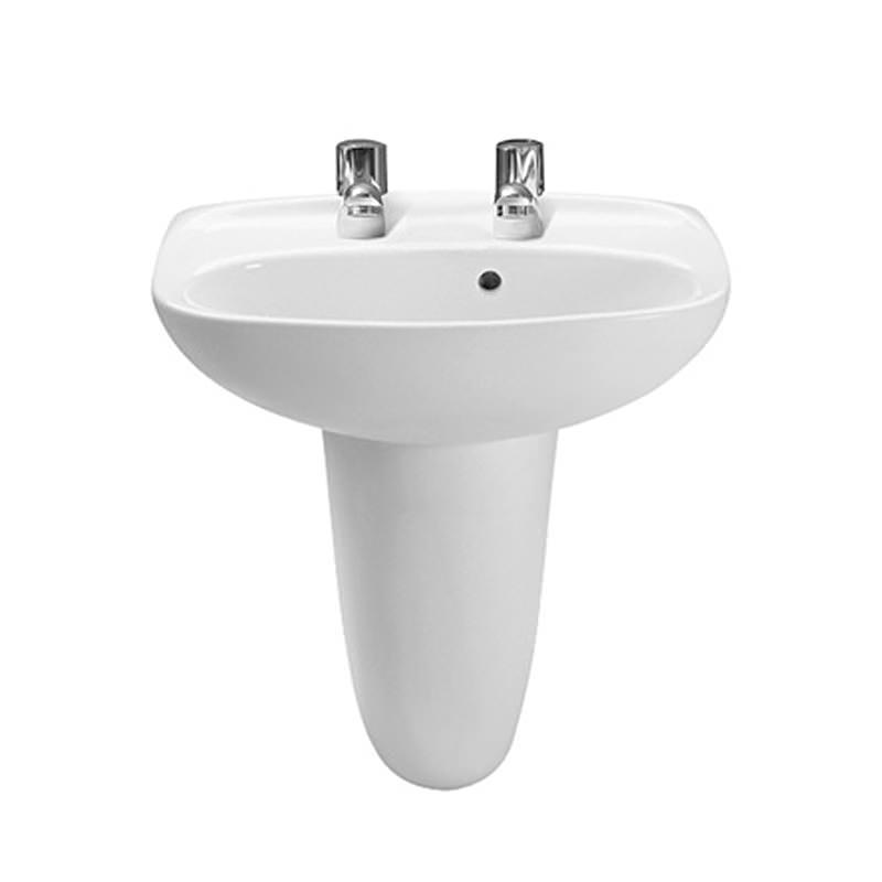 Roca laura 2 tap holes cloakroom basin 450mm wide 325315000 for Roca cloakroom basin