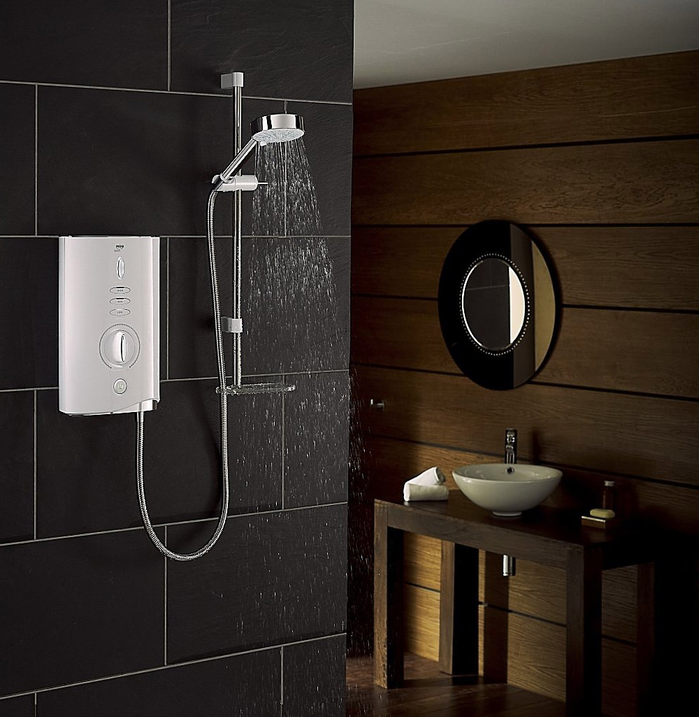 Mira Sport Max 10.8kW With Air Boost White And Chrome Electric Shower