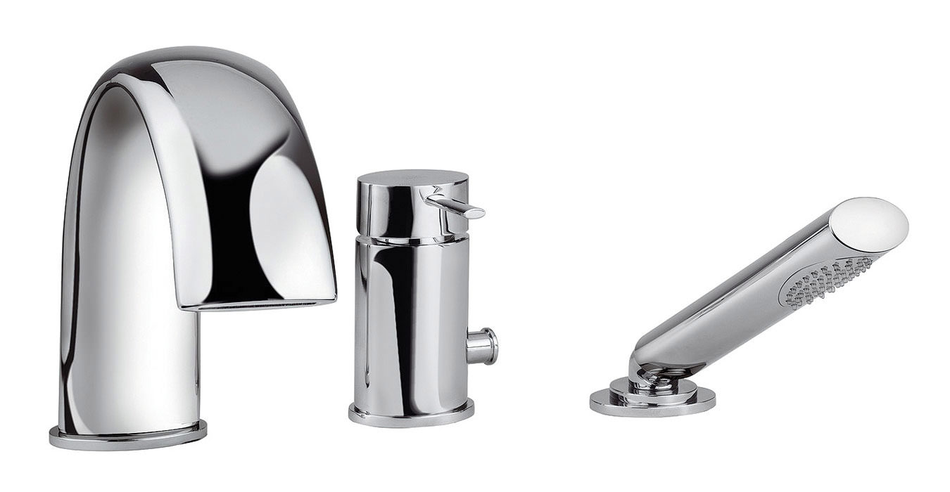 tre mercati bella 3 hole bath shower mixer tap with shower kit 42060 tre mercati bella 3 hole bath shower mixer tap with shower kit