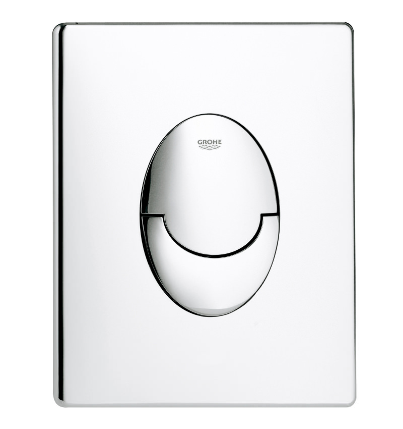 grohe skate air dual flush vertical wc wall plate chrome 38505000. Black Bedroom Furniture Sets. Home Design Ideas