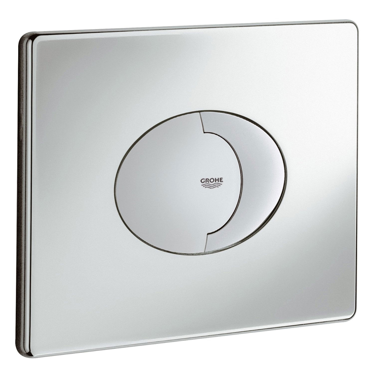 grohe skate air dual horizontal wc flush wall plate chrome. Black Bedroom Furniture Sets. Home Design Ideas