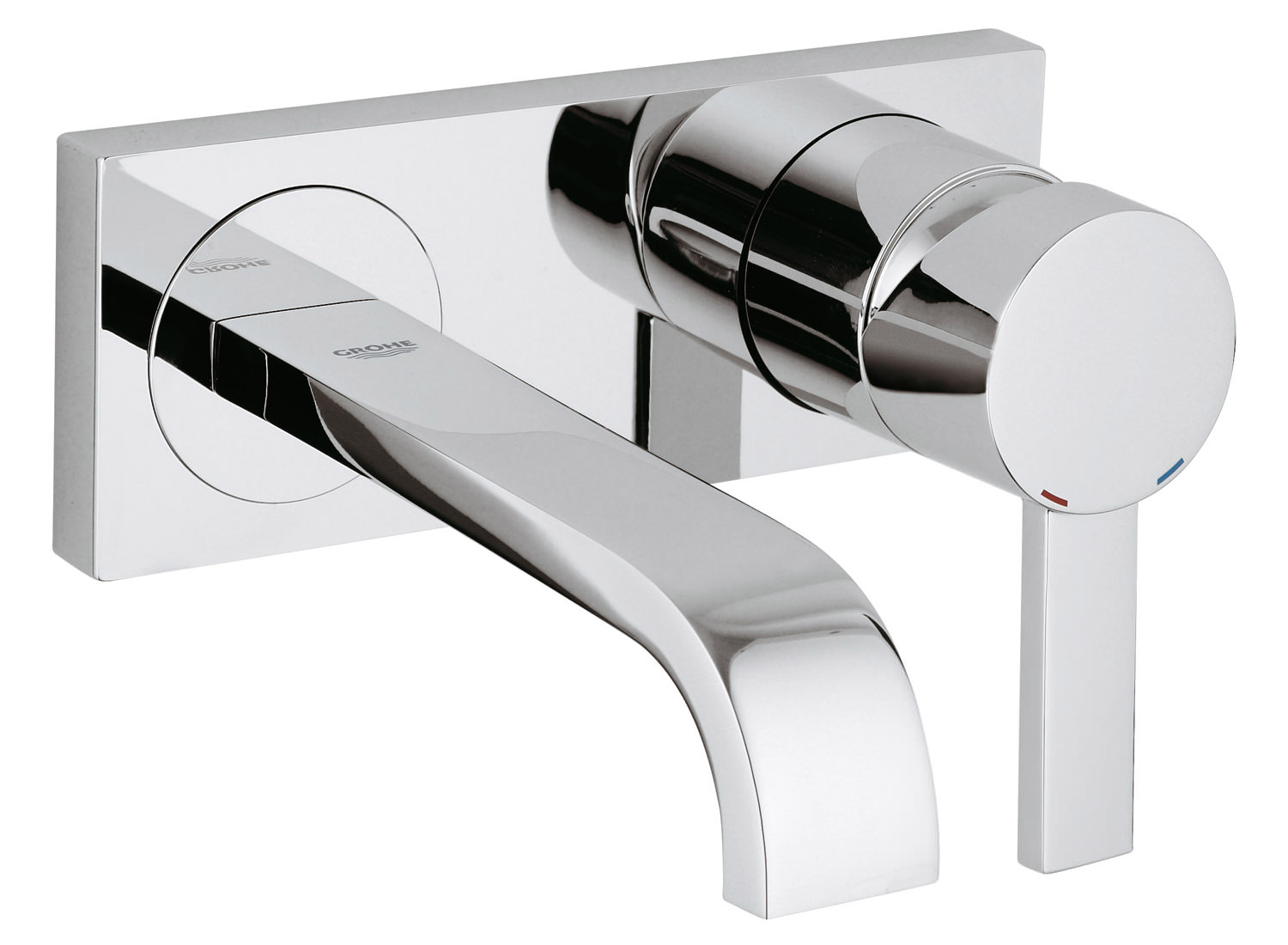Grohe spa allure wall mounted basin mixer tap 19309000 for Mitigeur mural grohe