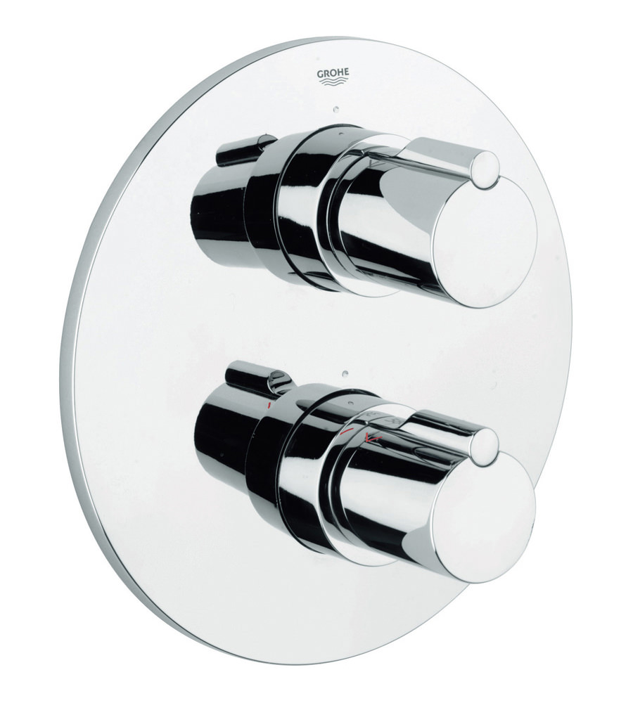 Grohe Tenso Thermostatic Shower Mixer Valve With Rapido T 19402000