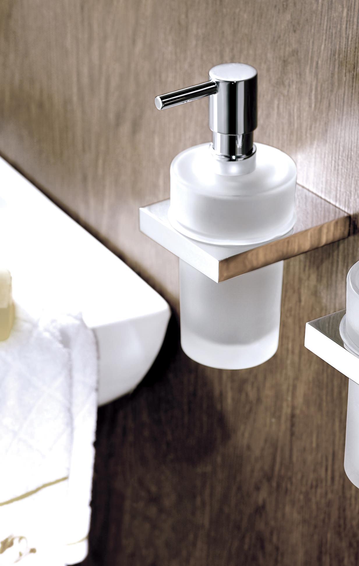 Essential Electric Soap Dispenser ~ Essential urban square soap dispenser with glass pump