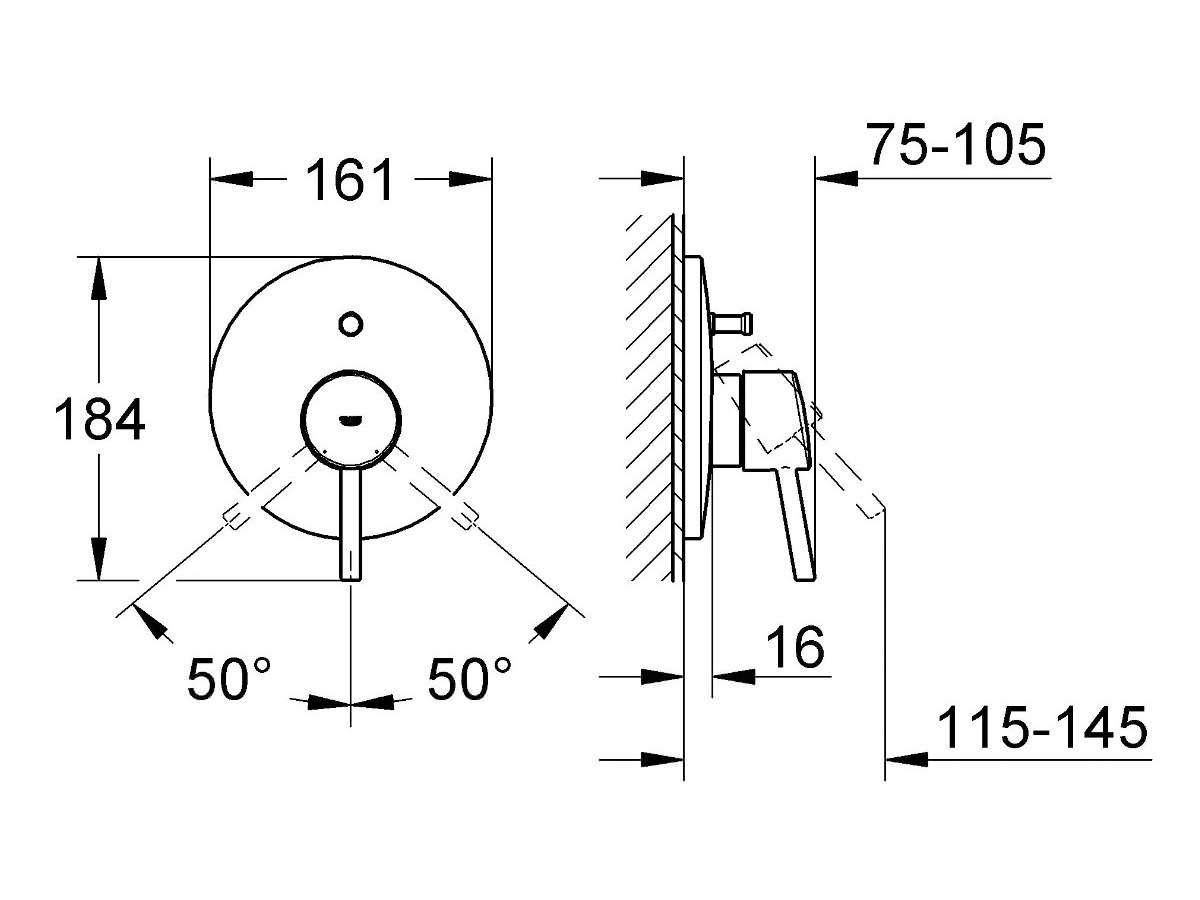 Grohe Concetto Single Lever Bath Shower Mixer Trim 19346001