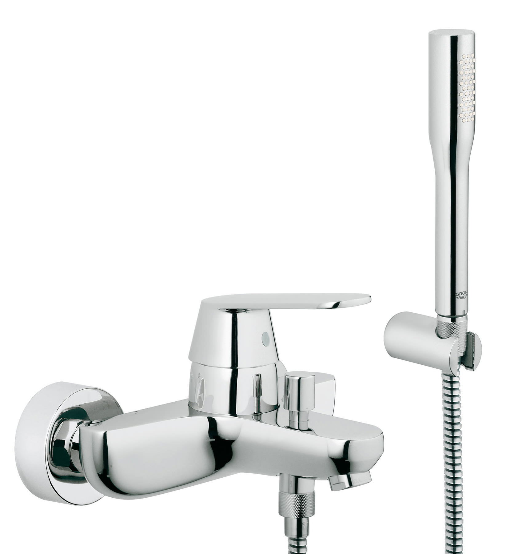 grohe eurosmart cosmo wall mounted bath shower mixer tap with kit 32832000. Black Bedroom Furniture Sets. Home Design Ideas