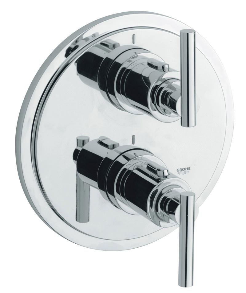 grohe spa atrio jota thermostatic bath shower mixer trim. Black Bedroom Furniture Sets. Home Design Ideas