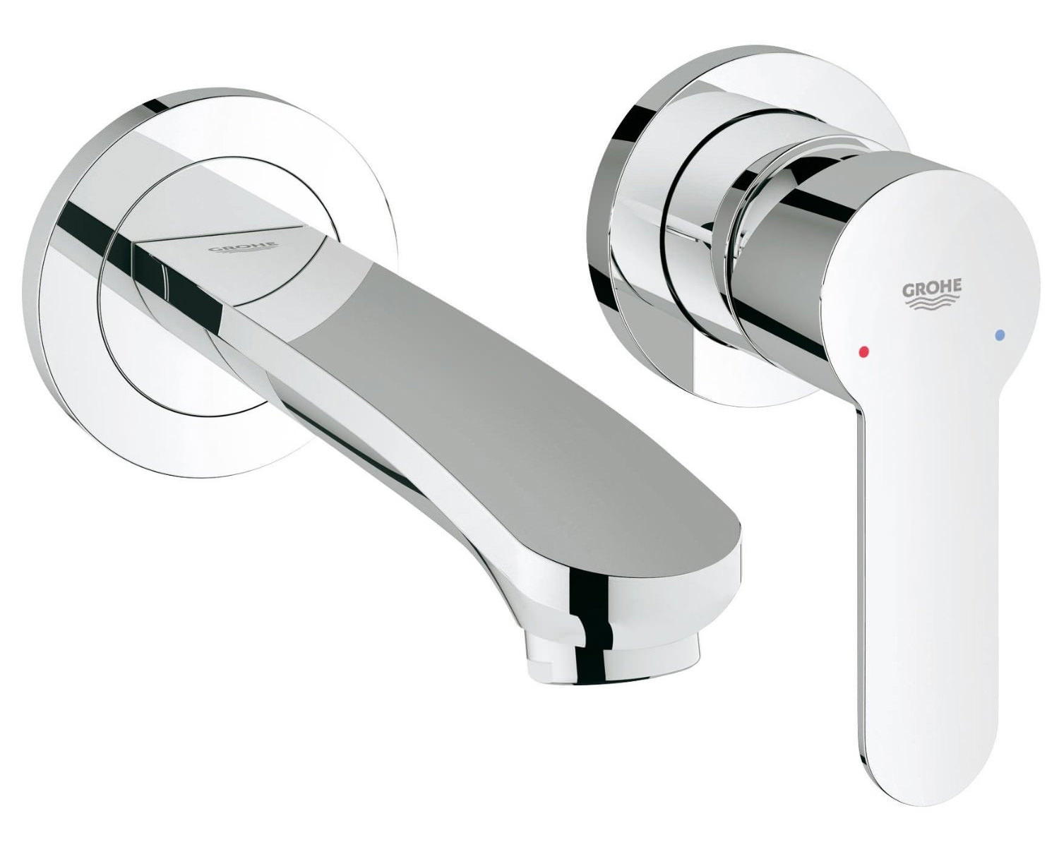 Grohe Eurostyle Cosmo Two Hole Wall Mounted Basin Mixer
