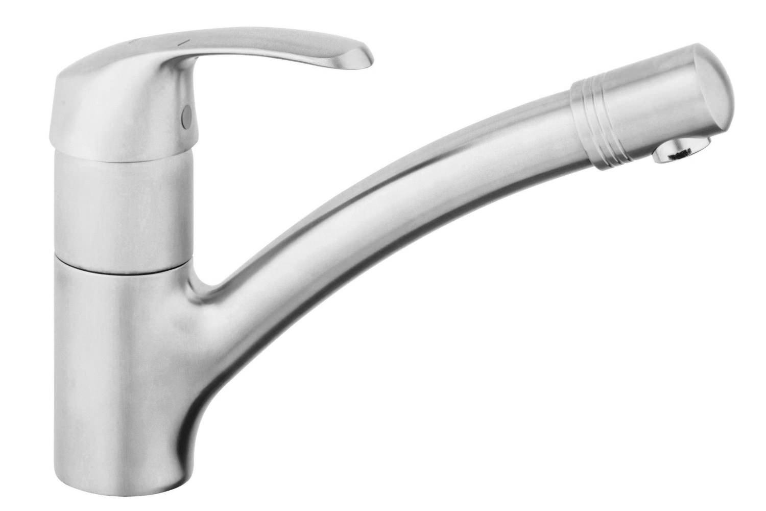grohe kitchen sink taps grohe alira stainless steel sink mixer tap 32997sd0 4103