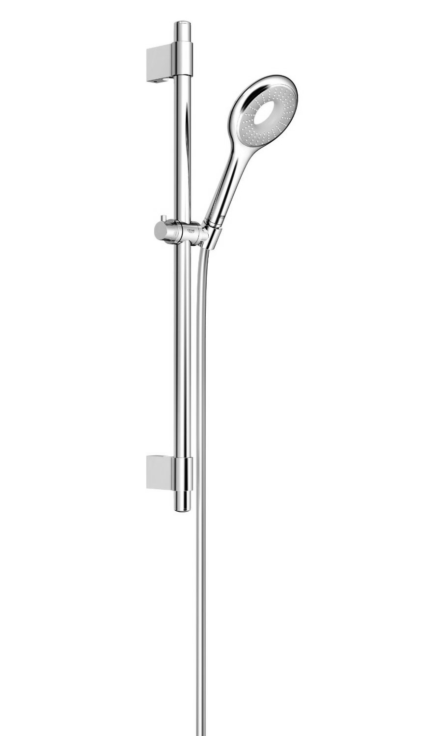 grohe rainshower icon 100 single spray pattern shower rail set. Black Bedroom Furniture Sets. Home Design Ideas