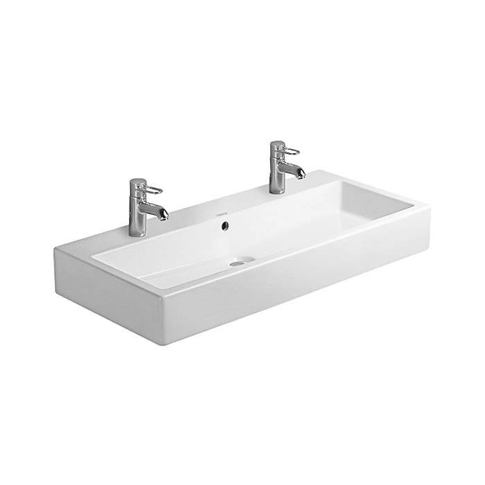 Duravit Vero White 1000 X 470mm 2 Tap Hole Washbasin