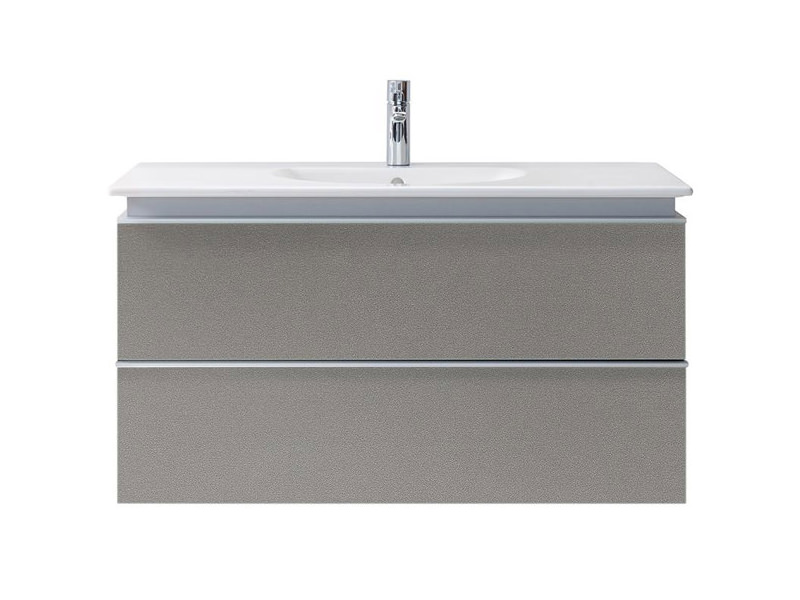 Duravit darling new 800mm 2 drawers terra vanity unit with - Duravit bathroom furniture uk ...