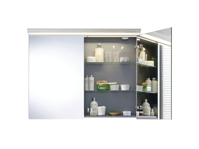 Duravit darling new 1000mm 2 door mirror cabinet dn753701414 for Bathroom mirror cabinets 900mm and 1000mm