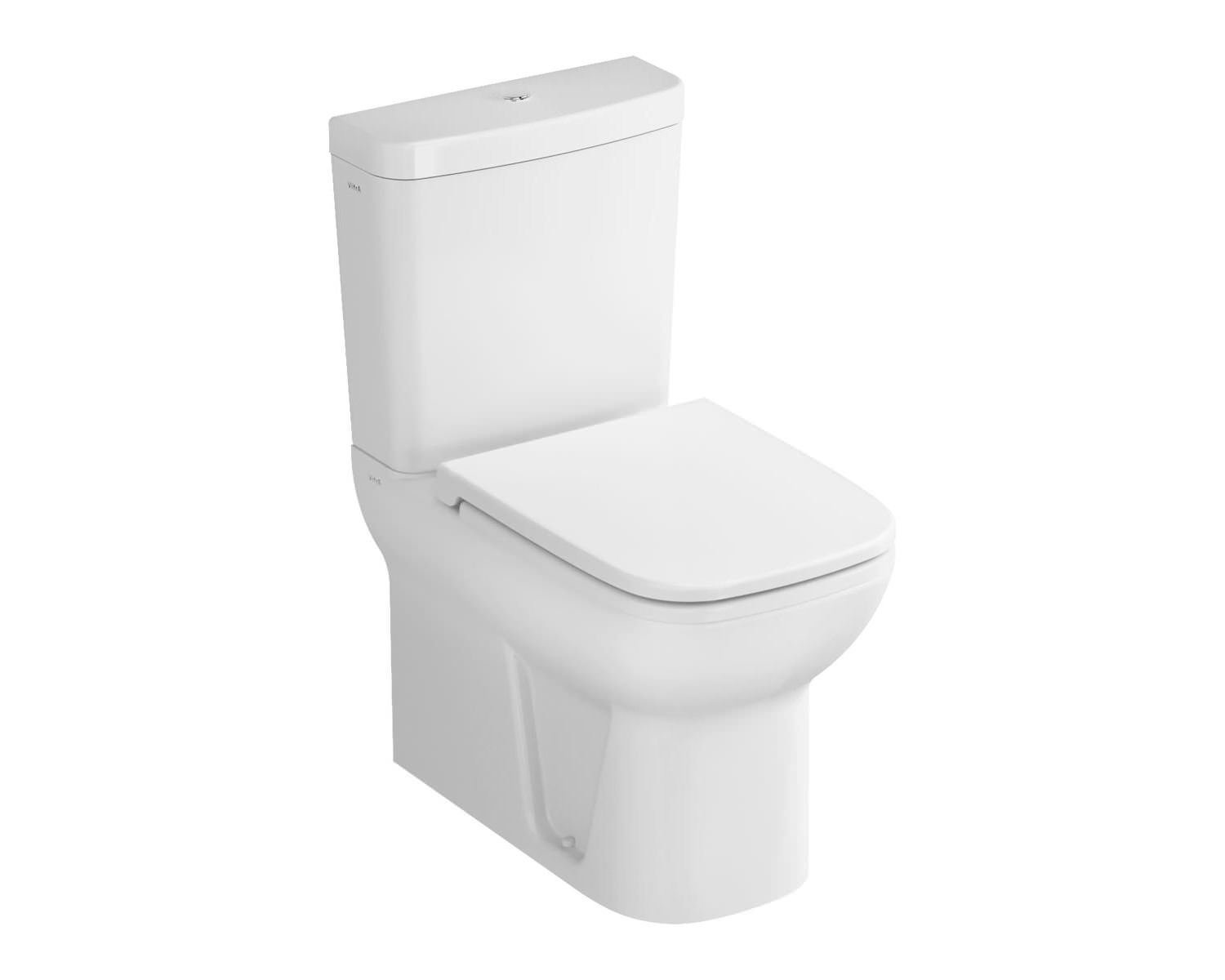 large square toilet seat. VitrA S20 Close Coupled BTW WC With Cistern And Seat  5512L003 0585