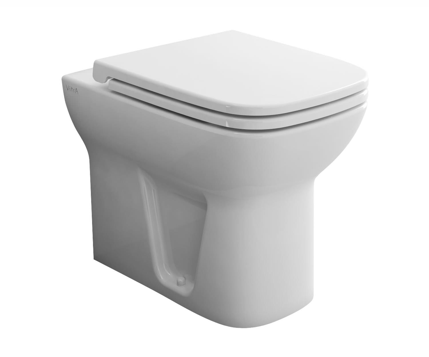 vitra s20 back to wall wc pan with toilet seat 5520l003 0075. Black Bedroom Furniture Sets. Home Design Ideas