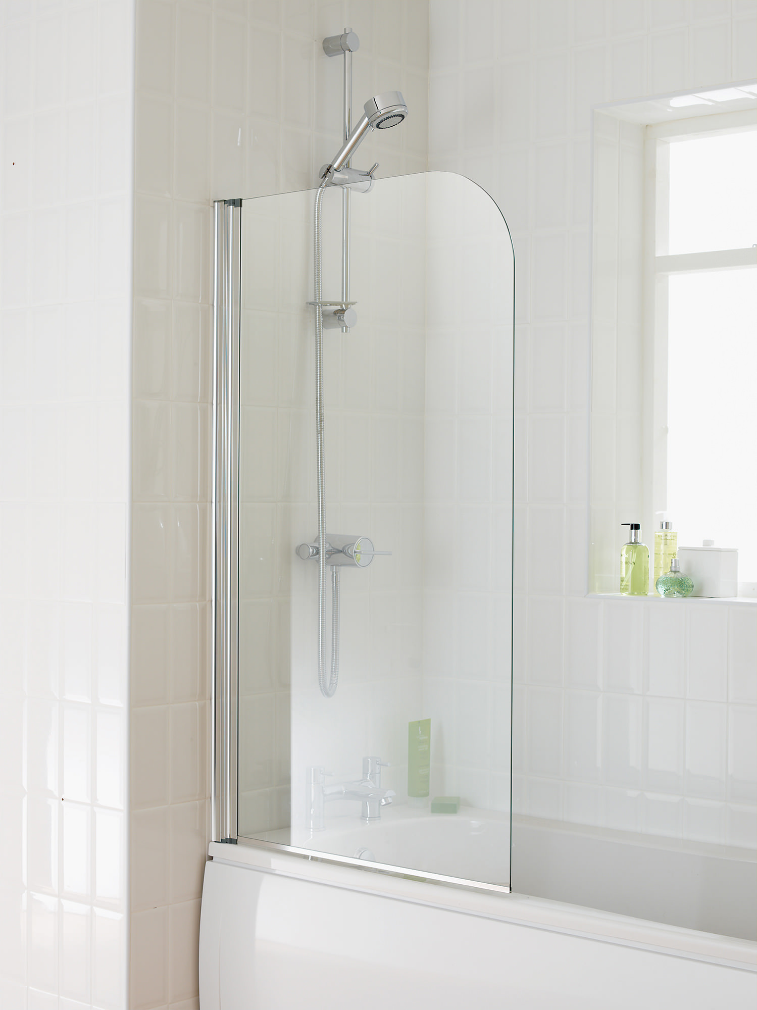 Essential element bath screen 750x1300mm eb301 for Bathroom bath