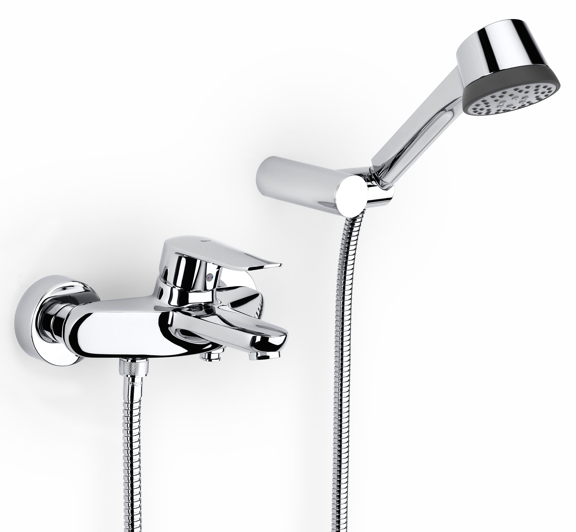 Roca logica n wall mounted bath shower mixer tap with kit for Roca logica