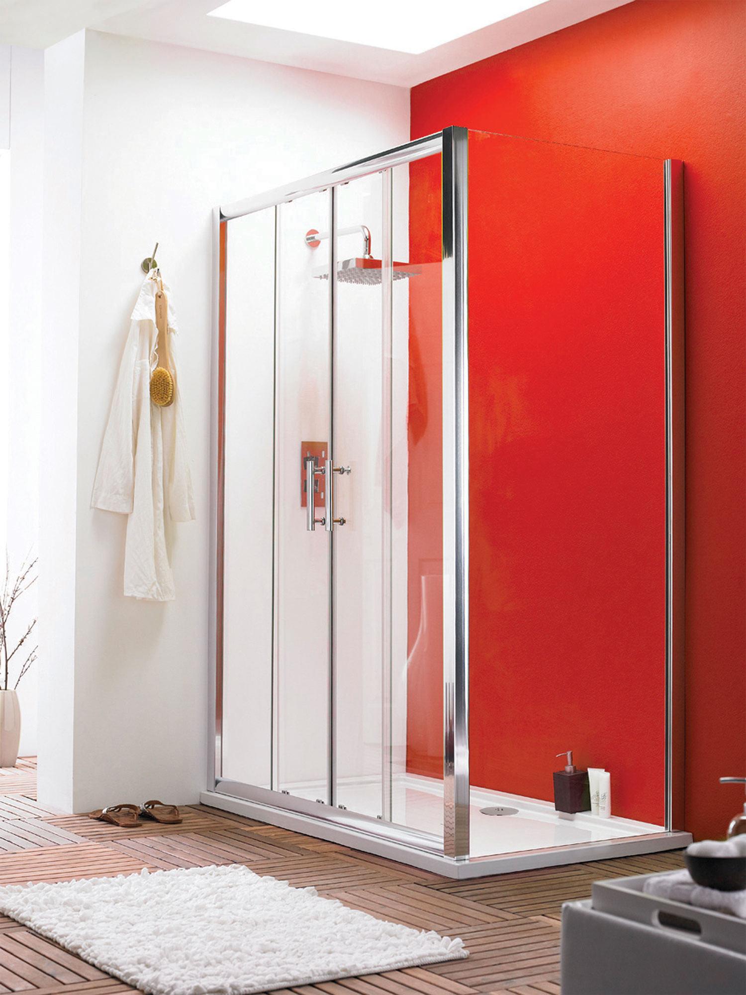 Lauren pacific double sliding shower door 1700mm for 1700 shower door