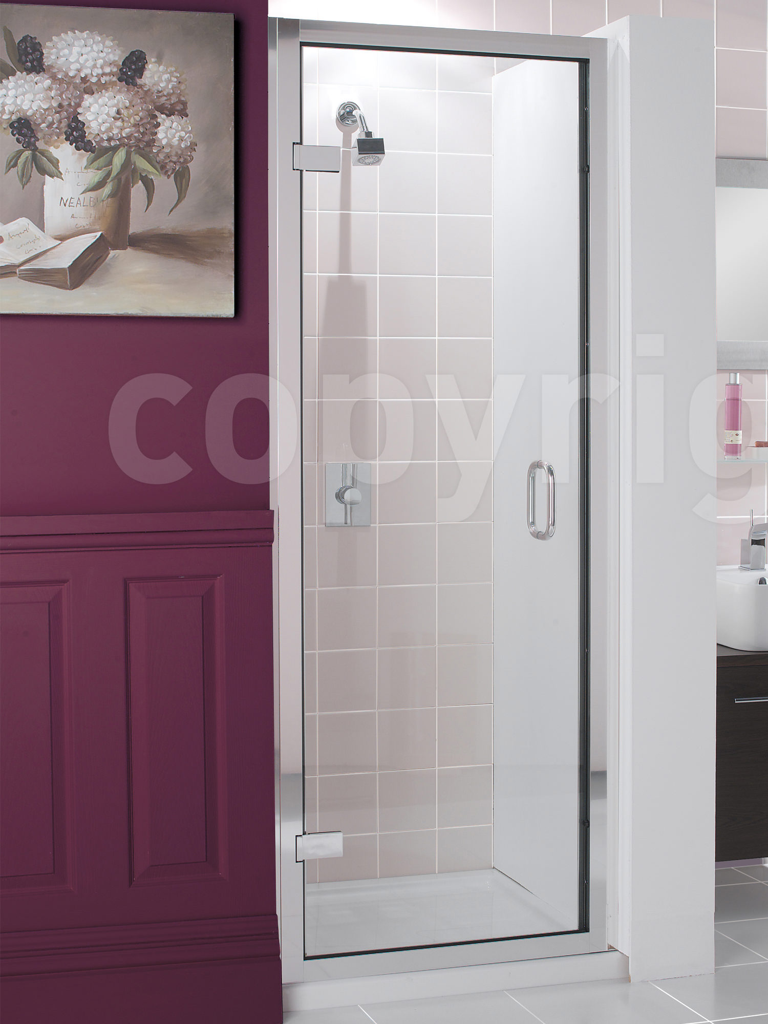 Simpsons Classic Frame Less Hinged Shower Door 900 X 1950mm