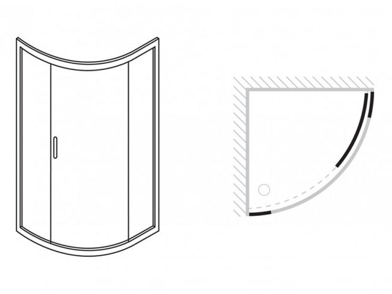 Simpsons Supreme Quadrant Single Door 900x900mm 5331