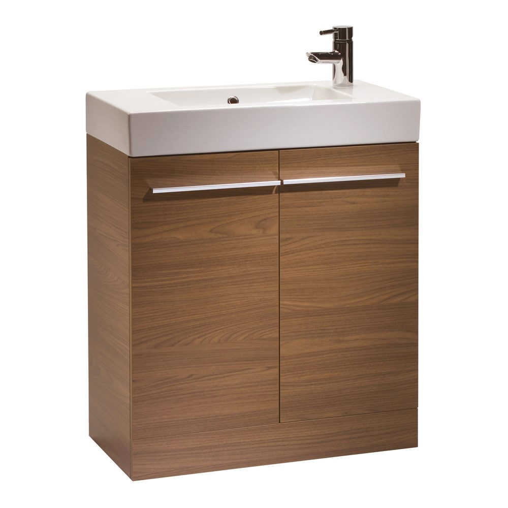 Tavistock kobe 700mm walnut floorstanding unit and basin for Large bathroom units