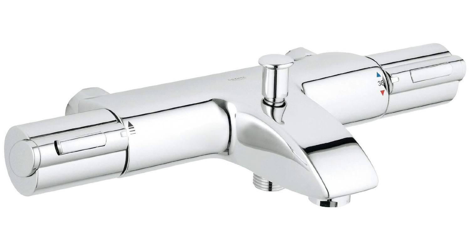 grohe grohtherm 1000 thermostatic bath shower mixer chrome 34156000
