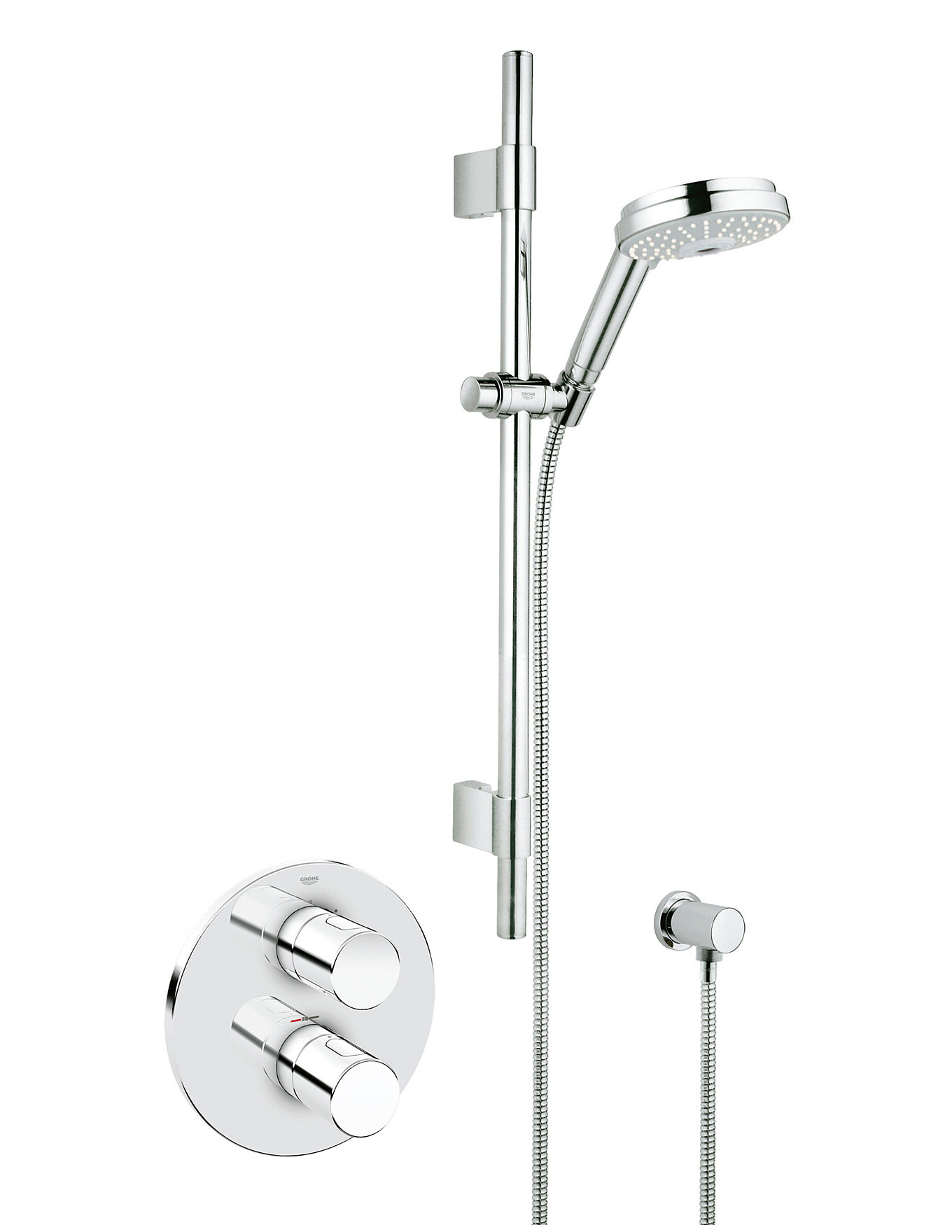 grohe grohtherm 3000 cosmo biv thermostatic shower mixer with kit 34278000. Black Bedroom Furniture Sets. Home Design Ideas