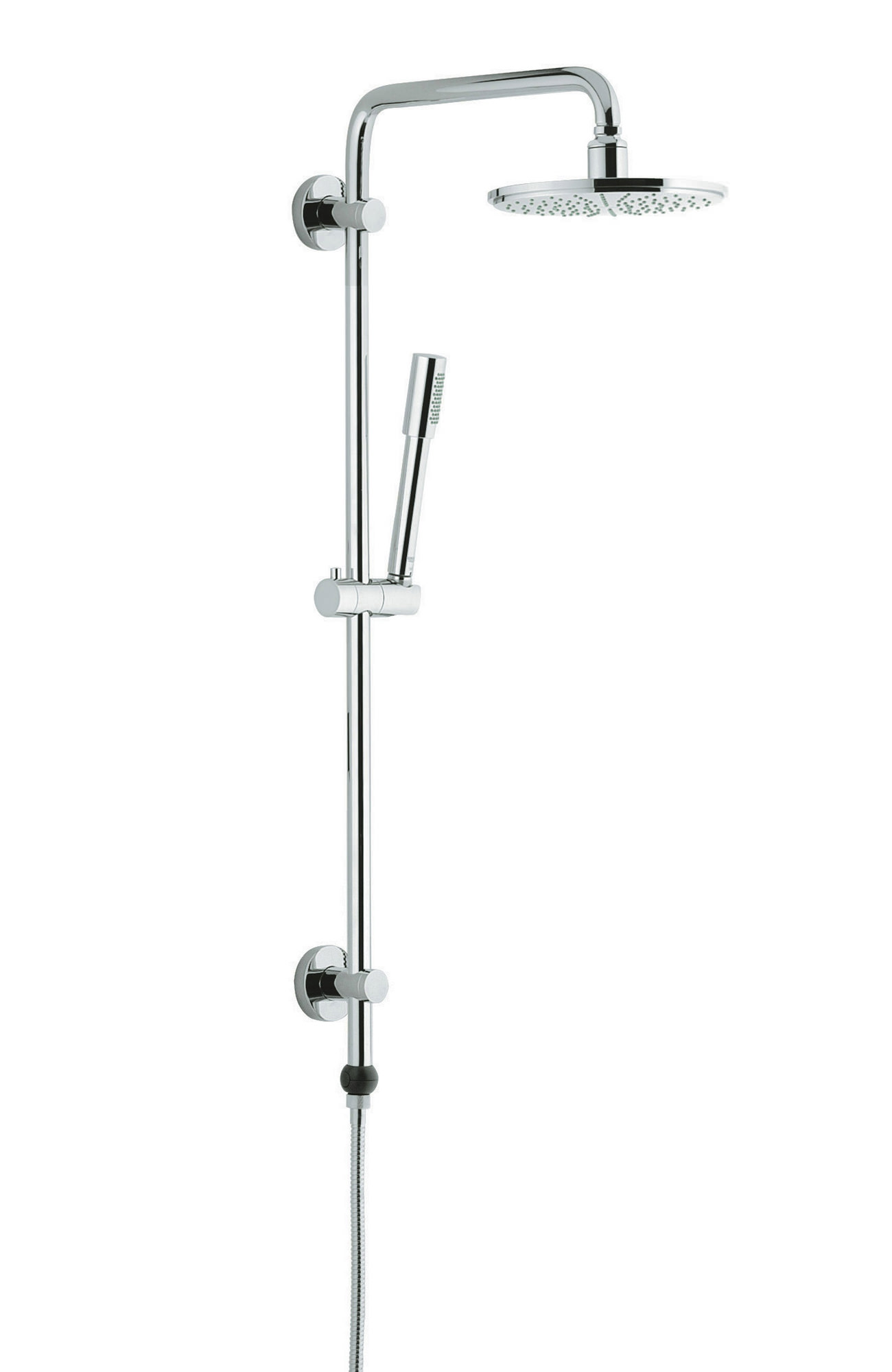 grohe rainshower wall mounted shower system chrome 27030000. Black Bedroom Furniture Sets. Home Design Ideas