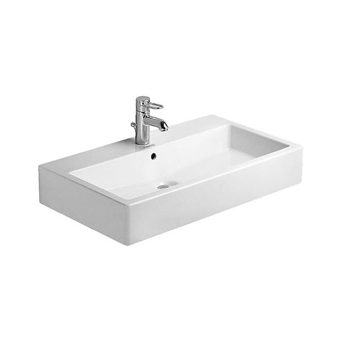 duravit vero white 700 x 470mm 1 tap hole basin 0454700000. Black Bedroom Furniture Sets. Home Design Ideas