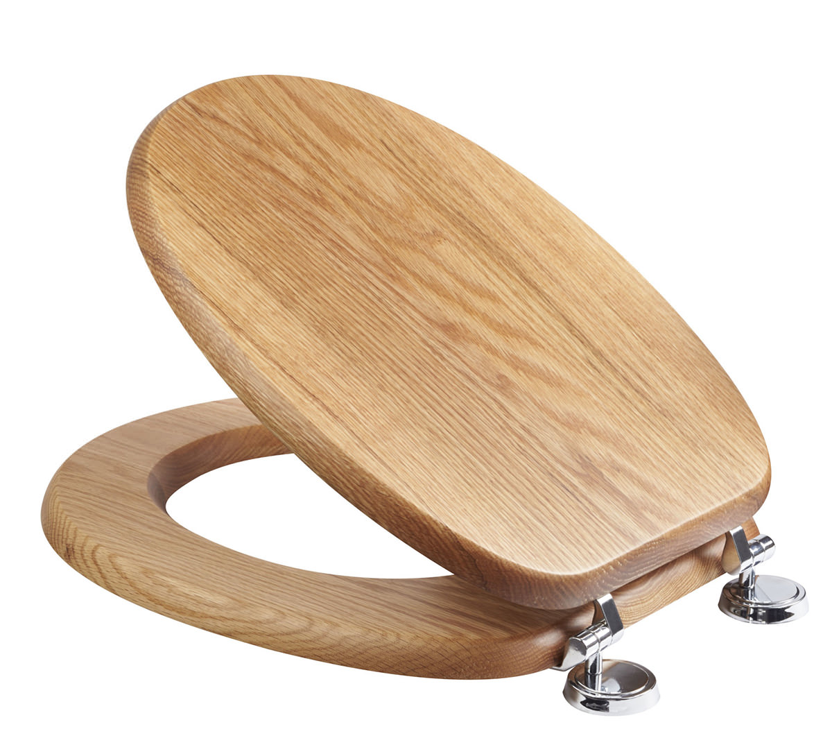 Croydex Bloomfield Traditional Oak Toilet Seat Wl530976h