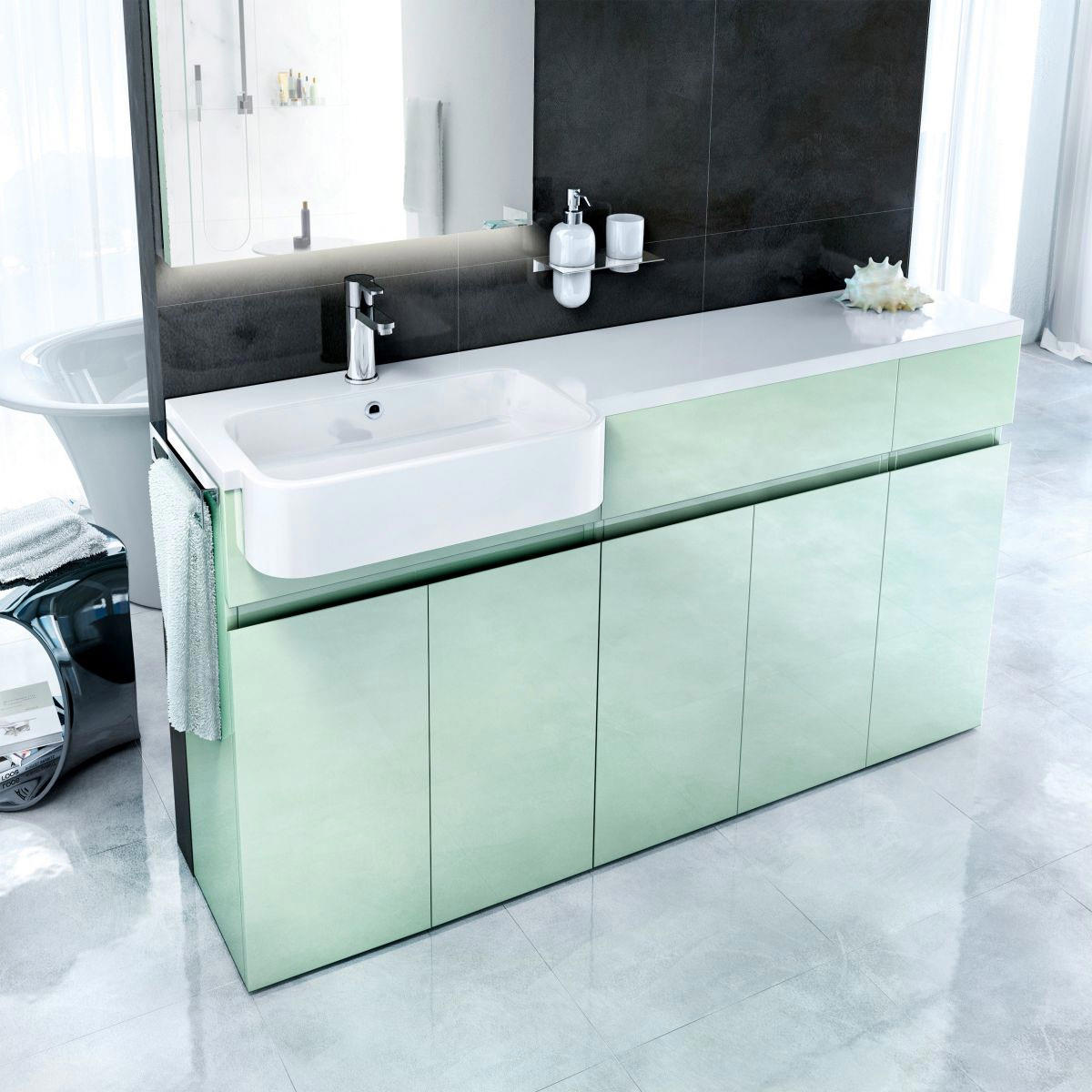 Superieur ... Additional Image Of Britton Q1230L Additional Image Of Britton Aqua  Cabinets ...