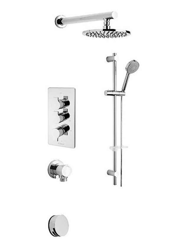 Tre Mercati Angle Concealed 3 Way Diverter Valve And Shower Set 22193A