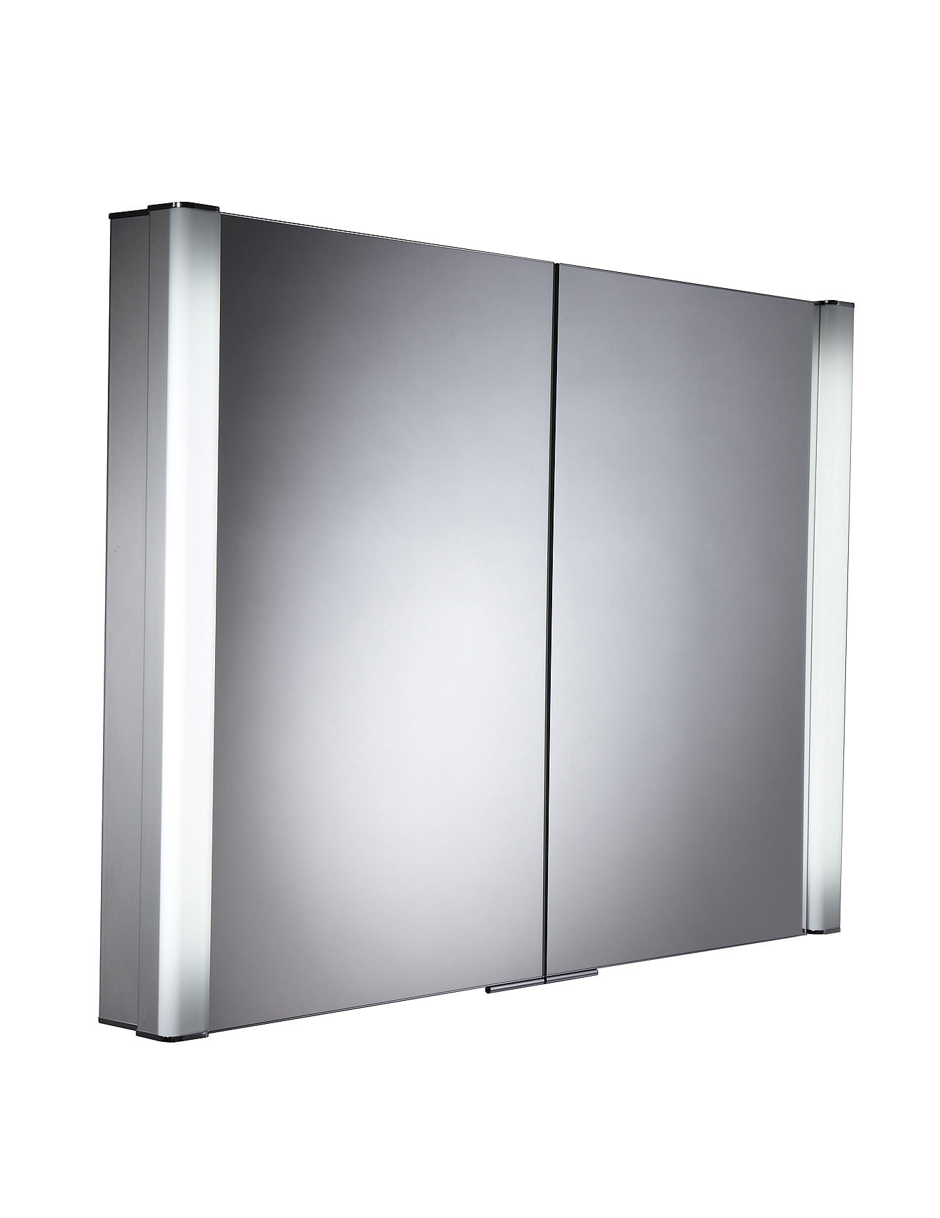Roper rhodes perception recessed illuminated cabinet for Bathroom mirror cabinets 900mm and 1000mm