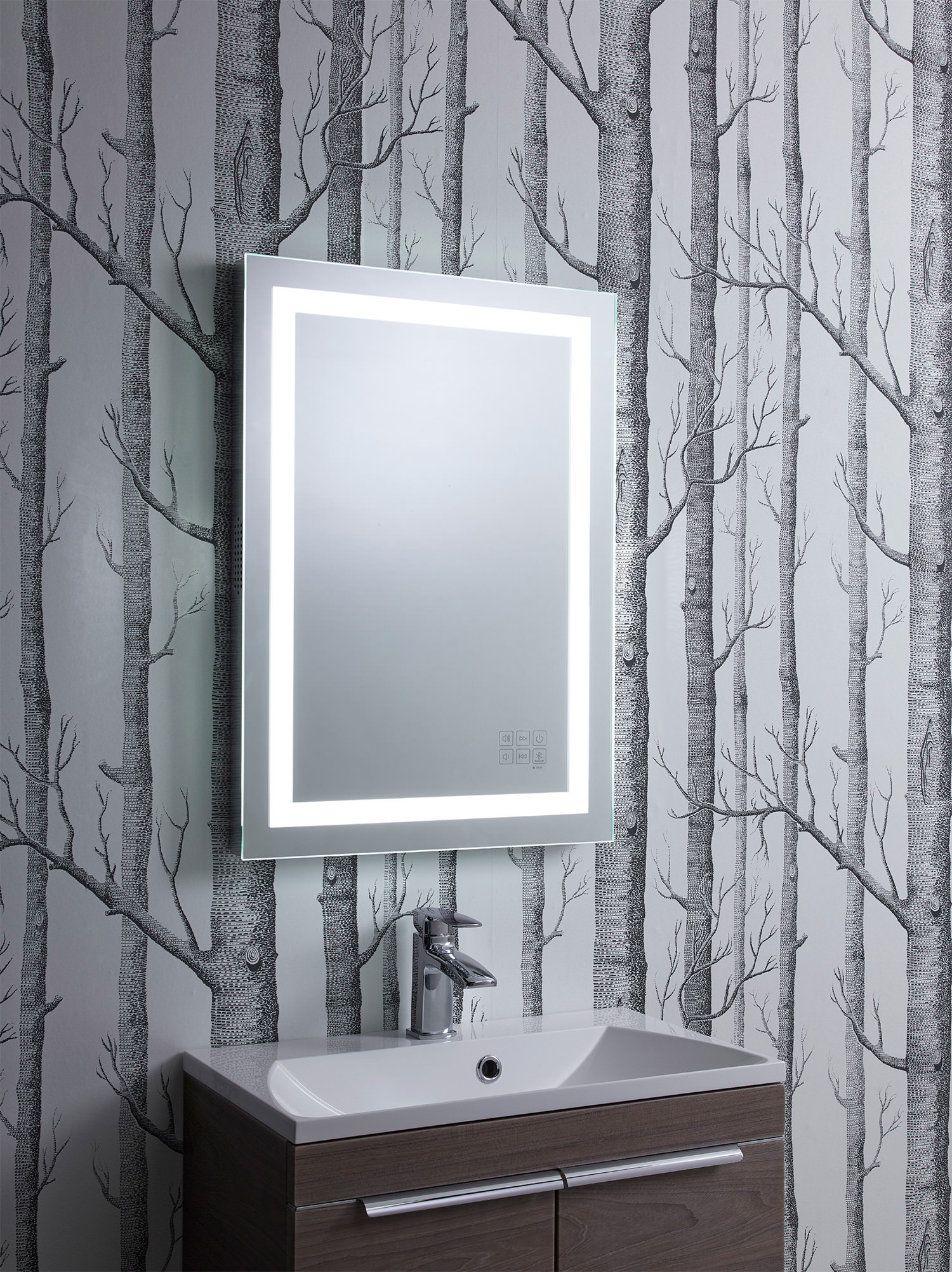 Alternate Image Of Roper Rhodes Encore Bluetooth Mirror 500 X 700mm Chrome