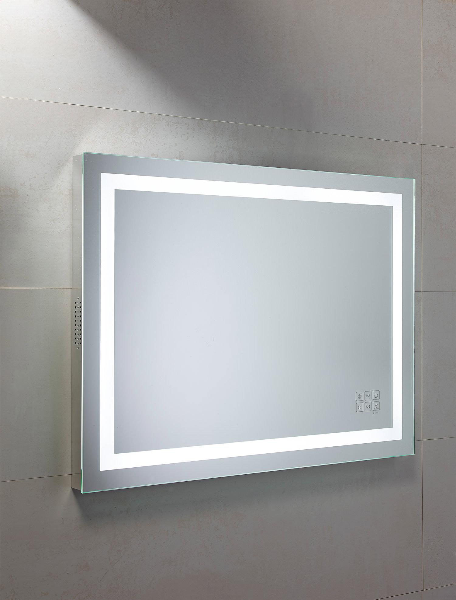 Flat Pack Kitchens >> Roper Rhodes Beat Bluetooth Mirror 800 x 600mm Chrome | MLE420