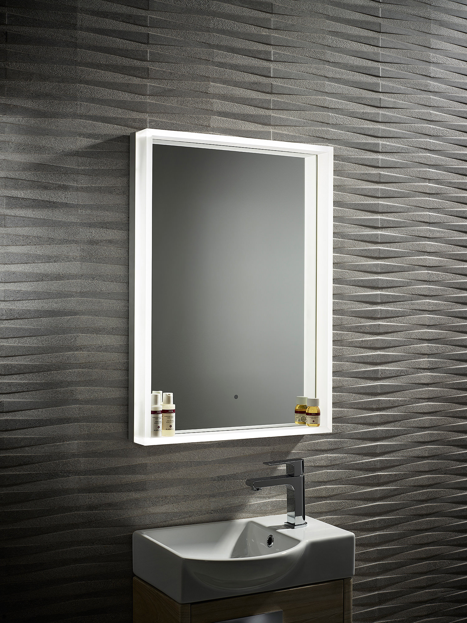 Roper Rhodes Aura Illuminated Framed Mirror 500 X 700mm