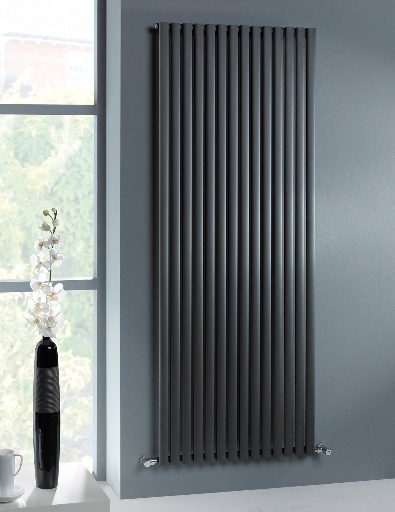 Mhs Ellis Anthracite Aluminium Designer Radiator 600 X 1800mm