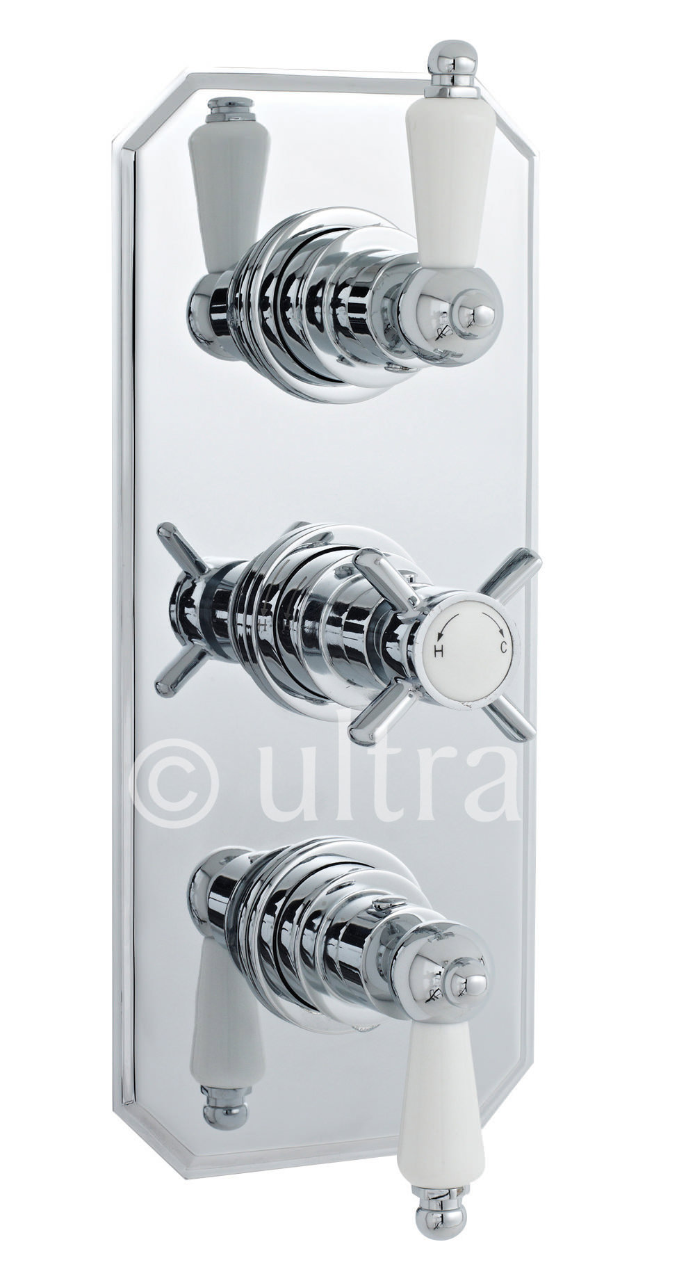 Premier Bathroom Beaumont Triple Concealed Thermostatic Shower Valve ...
