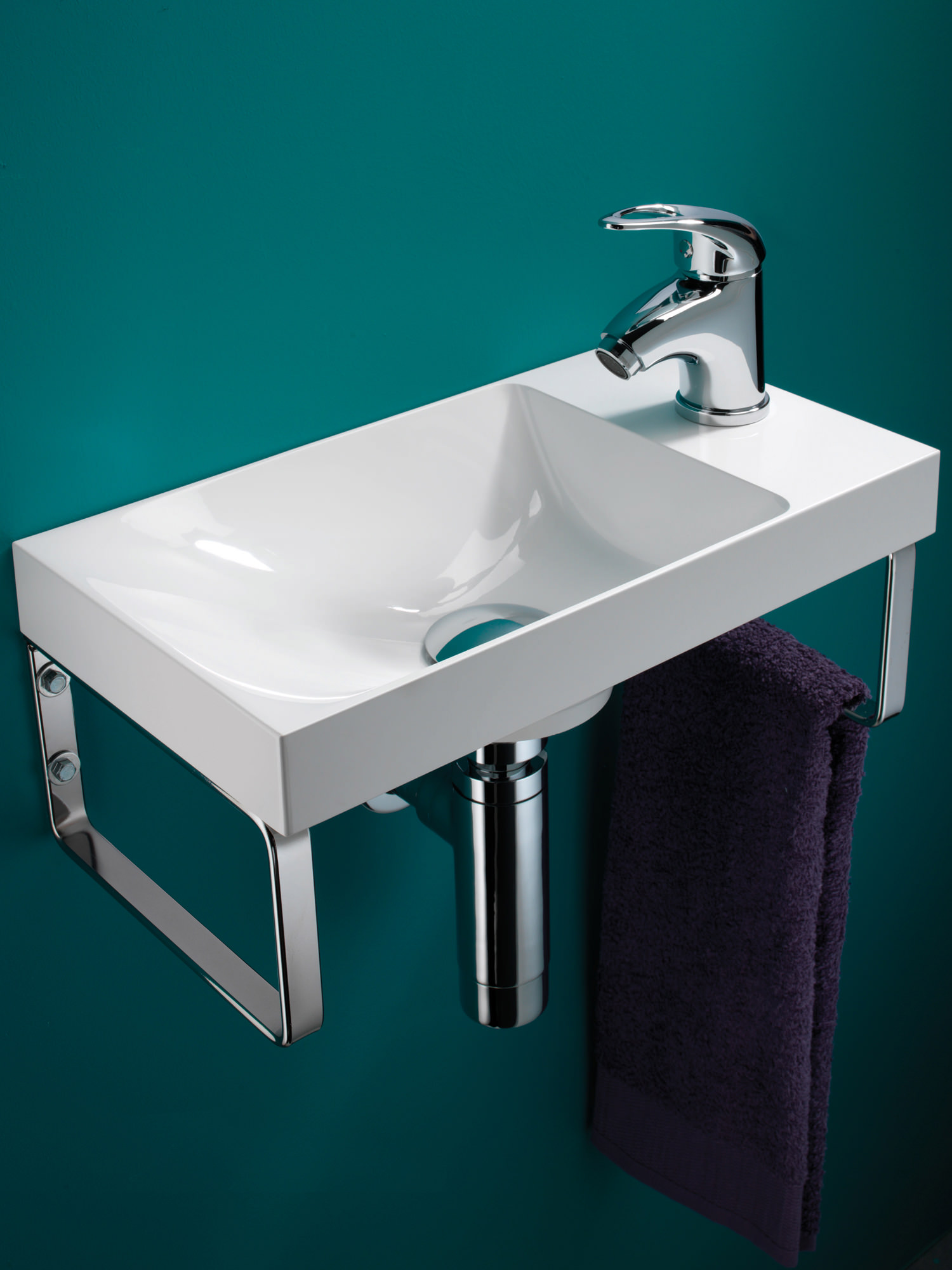 Hib Solo Ocean Wall Hung Washbasin 400 X 220mm 8780