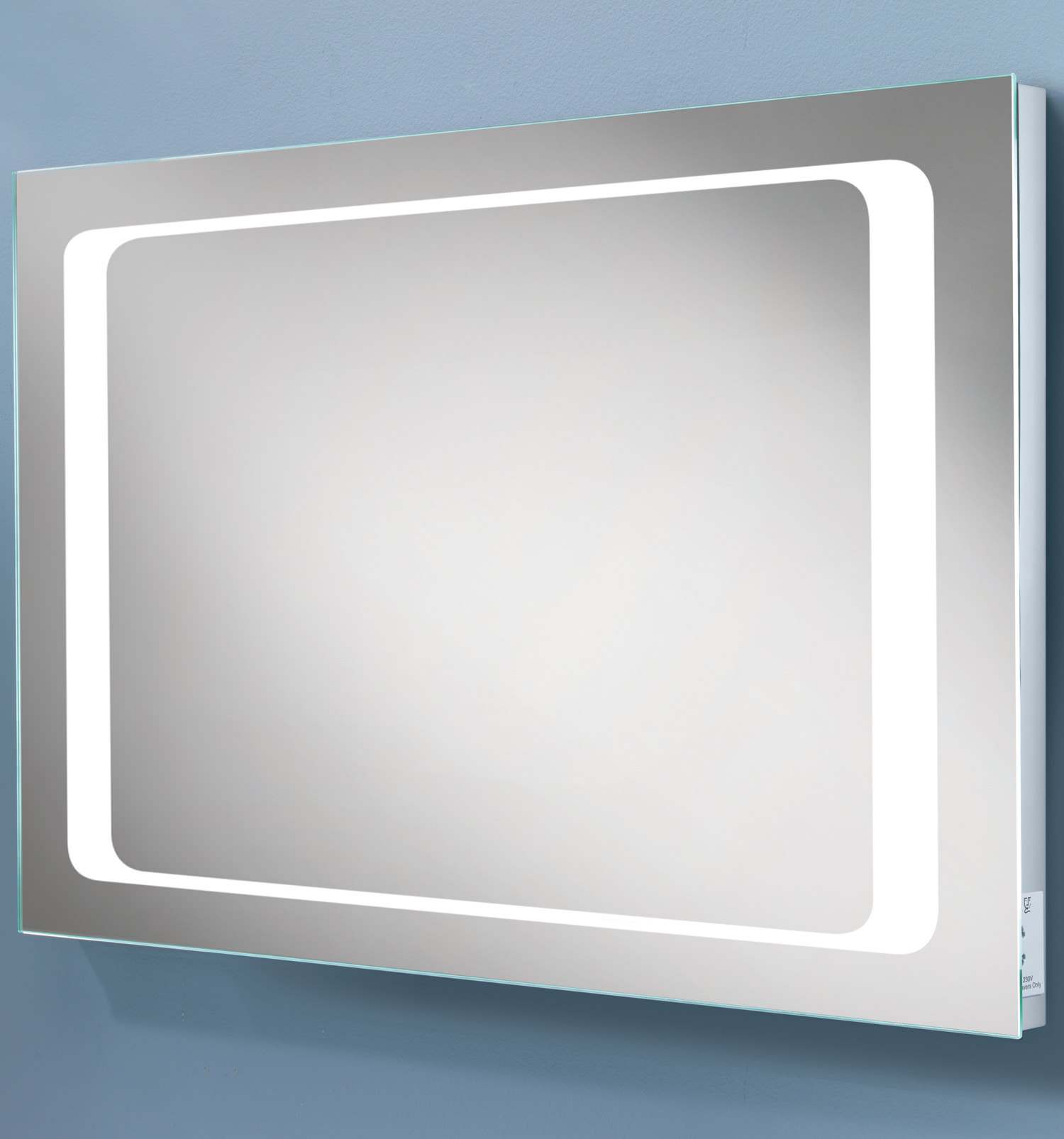 HIB Axis LED Back-Lit Mirror With Shaver Socket | 77417000